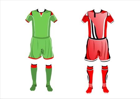 Abstract Soccer uniforms Illustration