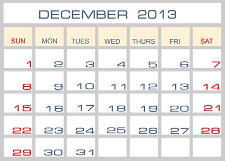 calendar October 2013 Vector