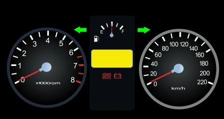 speedometers for car Vector