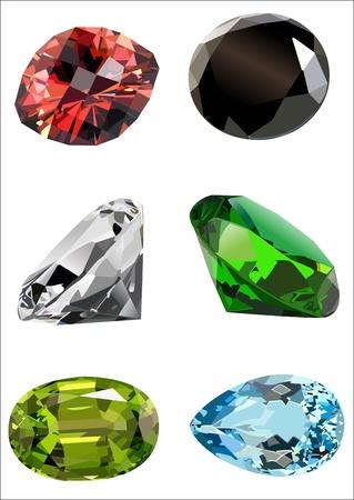 set of gems Illustration