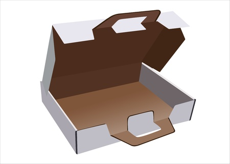 Flat box with lid and lock Vector