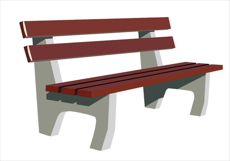 Isolate wooden bench Vector