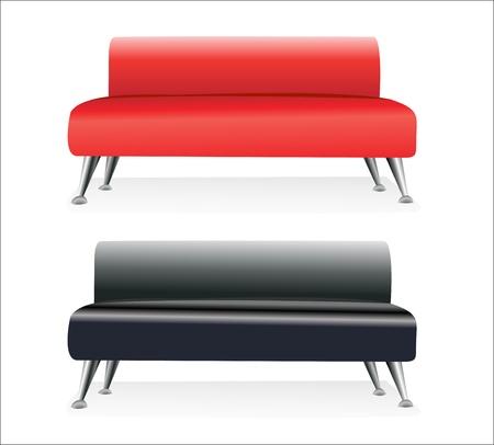 romance bed: modern sofa Illustration