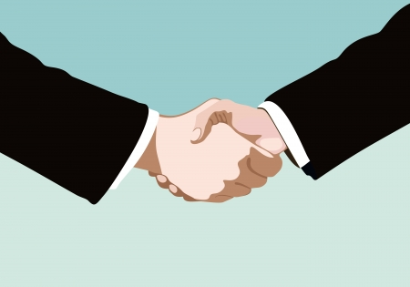 handshake isolated on business background Vector