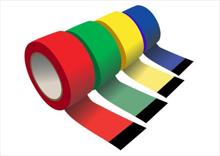 set of Scotch adhesive tape Vector