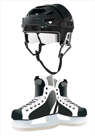ice-hockey accessories Vector