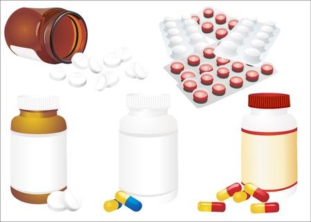 Packs of pills - abstract medical Illustration