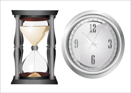 Clock set. Vector