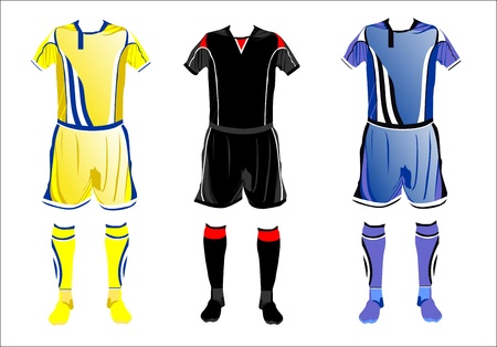 Abstract Soccer uniforms Stock Vector - 14286901