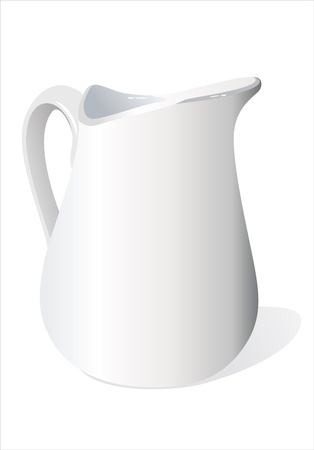 jugs: Nice white ceramic milk jug.