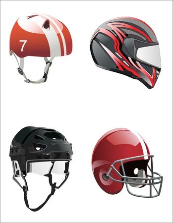 hockey sobre cesped: establece cascos