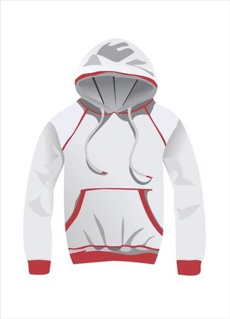 gray hoody jacket Stock Vector - 14286726