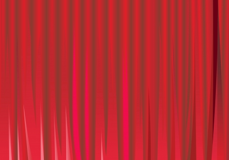 Large red curtain Stock Vector - 14286837
