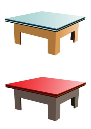 article of furniture: wooden table