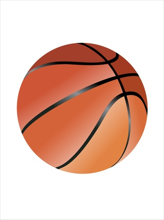 Orange basket ball Stock Vector - 14286669