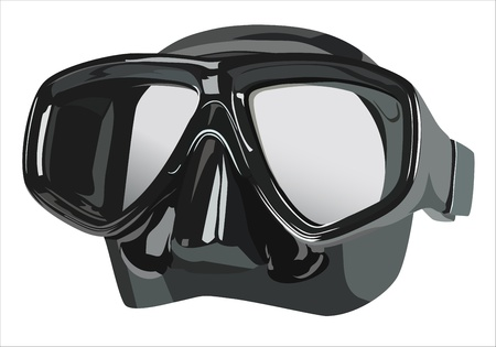 mask for diving Vector