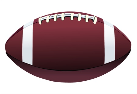 football isolated on white background Vector