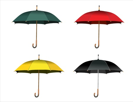 Set of colorful umbrellas Stock Vector - 14286886