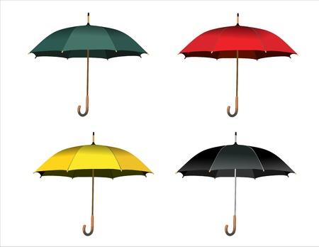 Set of colorful umbrellas Stock Vector - 14286886