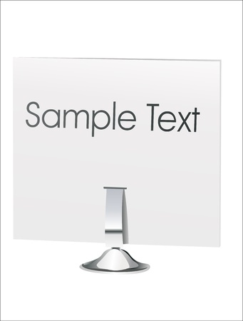 Name plate set for desk Vector