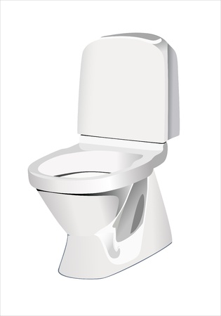 Toilet (toilet bowl) Vector