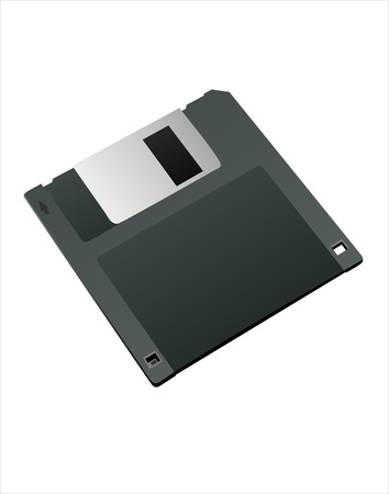 Magnetic floppy disc icon for computer data storage Stock Vector - 14286664