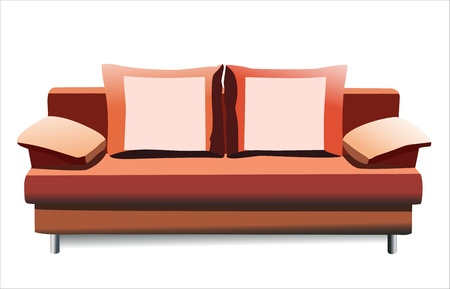 sofa on white background Stock Vector - 14286730