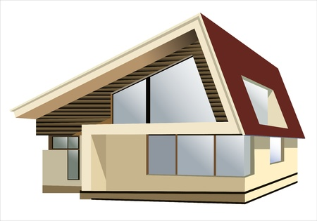 cottage on a white background Vector