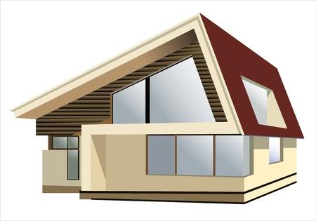 cottage on a white background Illustration