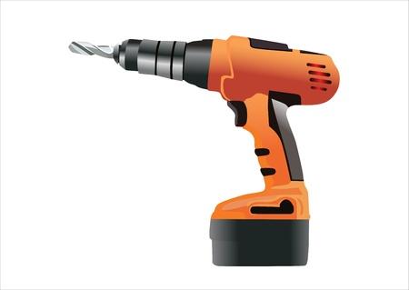 Cordless drill Vector