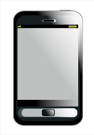 Black smartphone isolated on white background - like generic smartphone  Stock Vector - 14296725