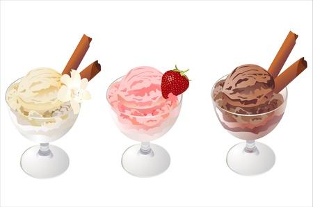 frozen glass: Ice Cream Illustration