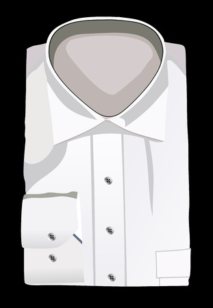A new white man s shirt Vector