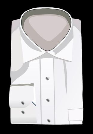 A new white man s shirt Vector