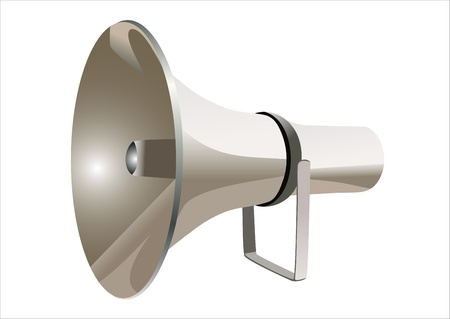 loud speaker: megaphone Illustration