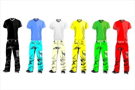 Clothes for men illustration Vector
