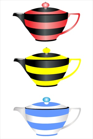 coffee, tea set Vector