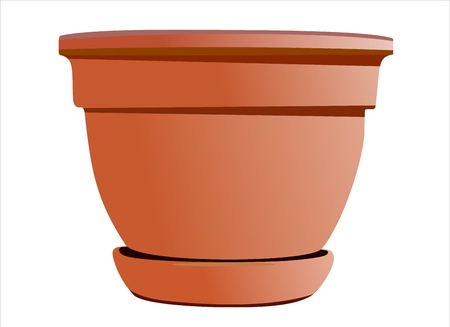 A large planting pot in gardening Stock Vector - 14296738