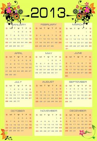 calendar 2013 Stock Vector - 14296895