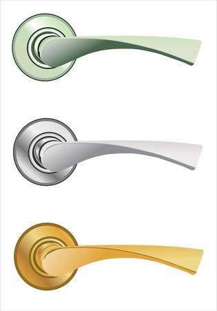 De deur-lock set Vector Illustratie