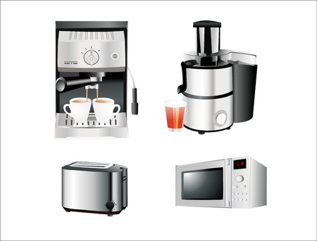 Set of home appliance. Isolated on white background Illustration