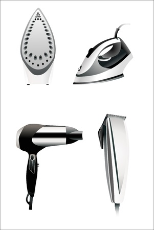 Icons set household appliances Style and realistic Icons of household appliances for web or print design Vector