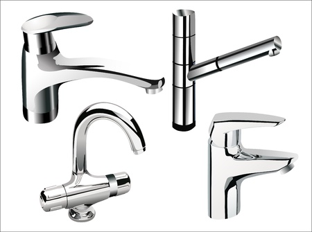 pour water: water tap set