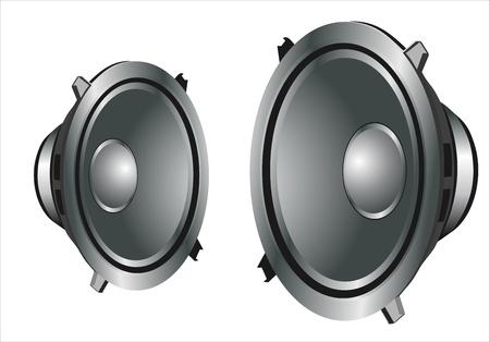 equipo de sonido: altavoces de sonido Vectores