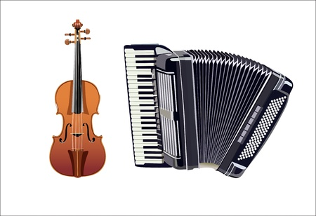 accordion: Musical instruments Illustration