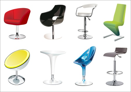office furniture: Chair Set Illustration