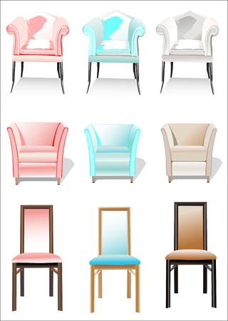 Chair Set Stock Vector - 14328224