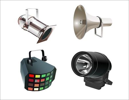 spot lit: colored spotlights