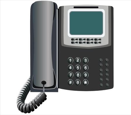 cable telefono: primer tel�fono negro sobre fondo blanco