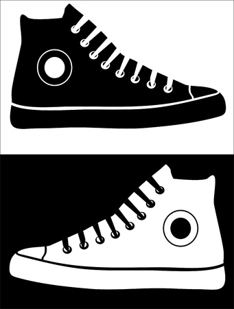 Zapatillas Ilustración de vector